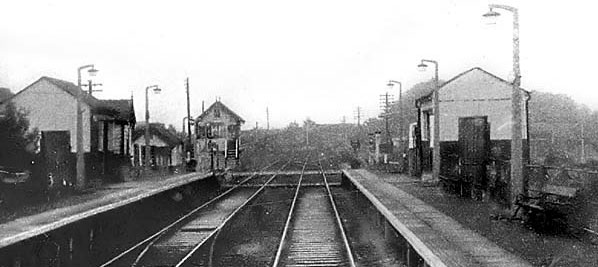 Historic black and white photograph of Sealand train station